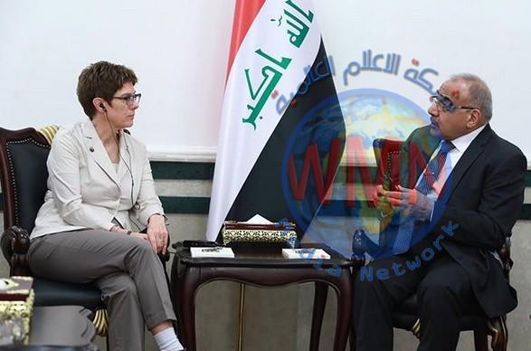 وزيرة الدفاع الألمانية تصل الى بغداد وتلتقي عبد المهدي