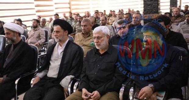 ابو مهدي المهندس يشارك في فعاليات اختتام دورة عاشوراء الخاصة بمبادئ الفكر الإسلامي لآمري التشكيلات في الحشد
