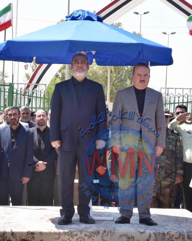 وزير الداخلية يلتقي نظيره الإيراني ويفتتح منفذ المنذرية الحدودي
