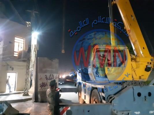 رفع كتل كونكريتية وفتح شارع مغلق منذ 2004 جنوب بغداد