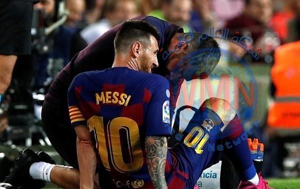 مدرب برشلونة يكشف طبيعة إصابة ميسي