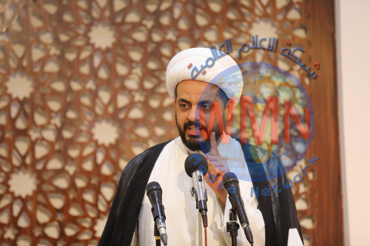"""الشيخ قيس الخزعلي يحذر من """"تهديد كبير"""" للأمن القومي العراقي"""