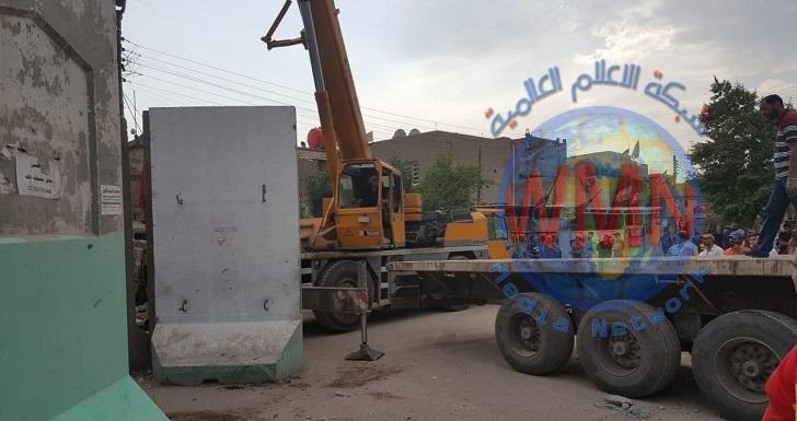 فتح شارع مغلق جنوب غربي بغداد