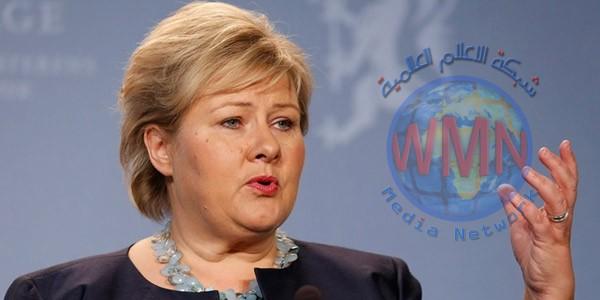 رئيسة وزراء النرويج تصل الى بغداد