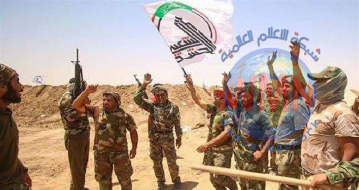 الحشدالشعبي يقطع طرق تسلل داعش عبر بحيرة حمرين في ديالى