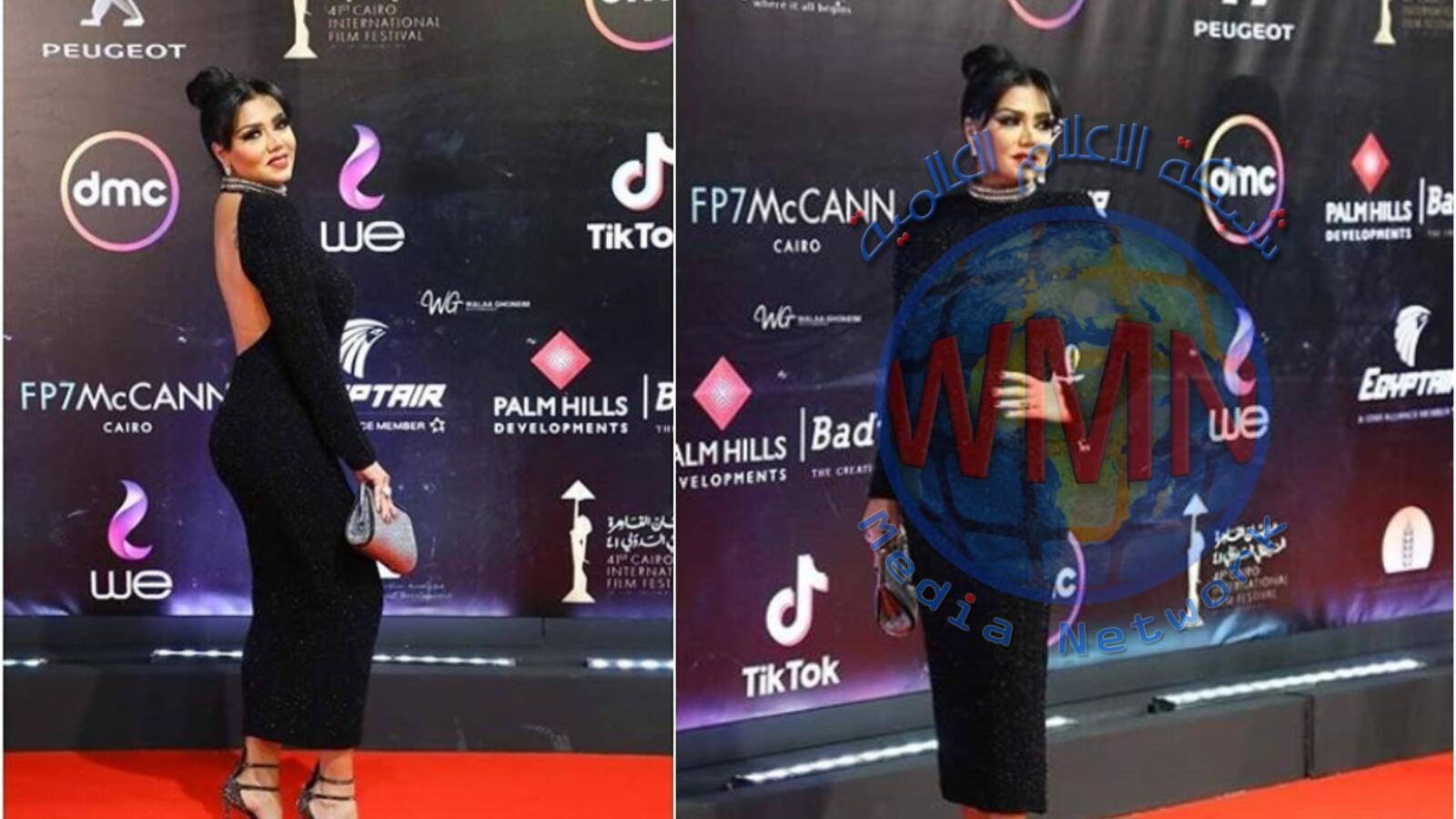 رانيا يوسف تخطف الأضواء بظهر مكشوف ورقصة مثيرة للجدل في مهرجان القاهرة السينمائي