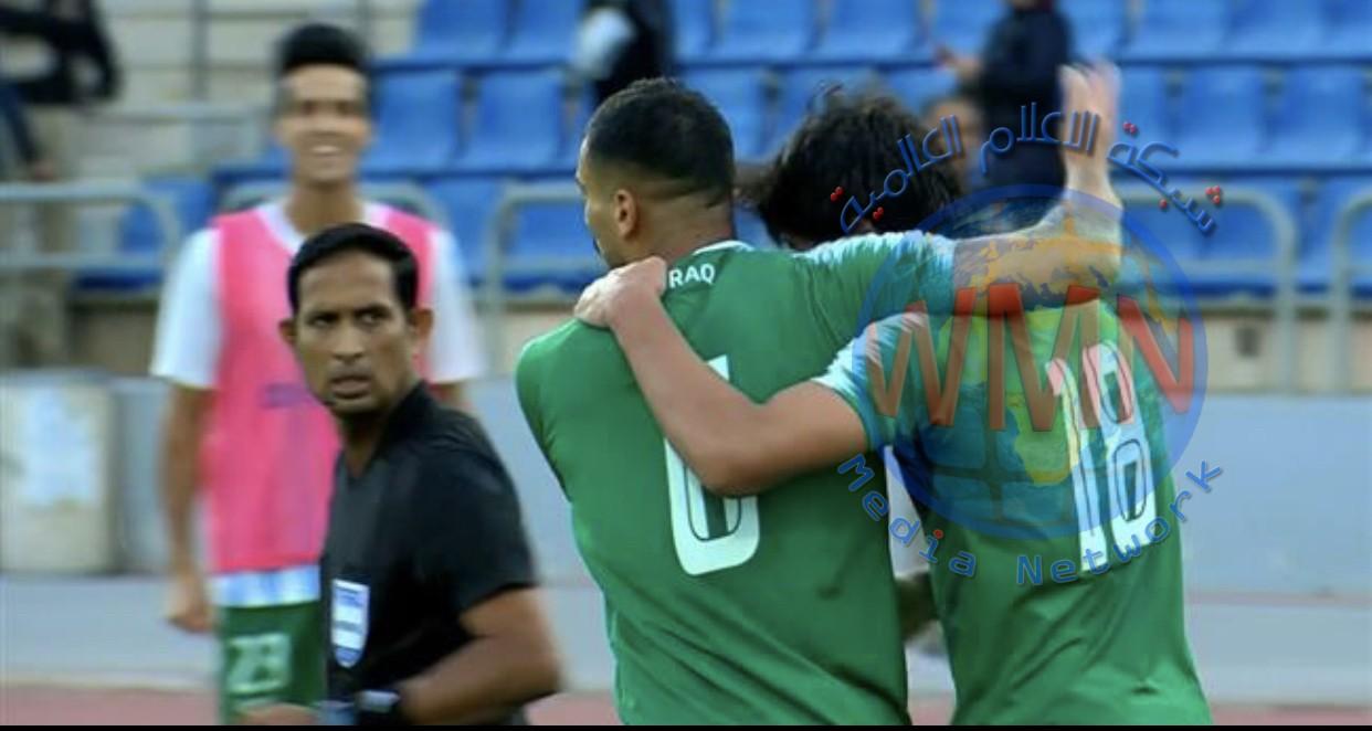 المنتخب العراقي يفوز علئ المنتخب الايراني ويتصدر المجموعة