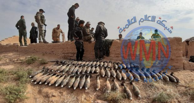 الحشدالشعبي يعثر على مخبأ لقنابر الهاون في نينوى