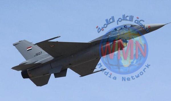 طائرات أف 16 العراقية تقصف وكراً لداعش في صلاح الدين
