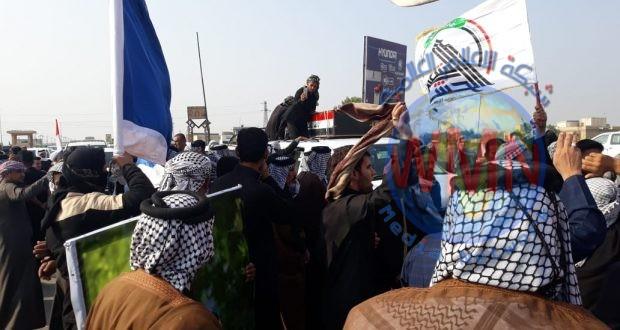 """الناصرية تشيع شهداء الحشد الشعبي الذين ارتقوا اثناء تصديهم للهجوم """"الداعشي"""" في ديالى"""