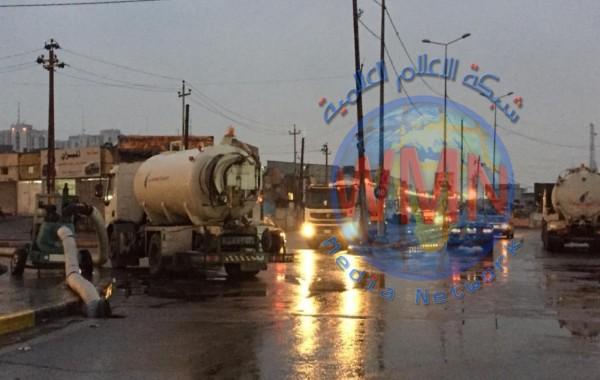 أمانة بغداد: استمرار الملاكات الخدمية بالاستنفار لمواكبة هطول الامطار