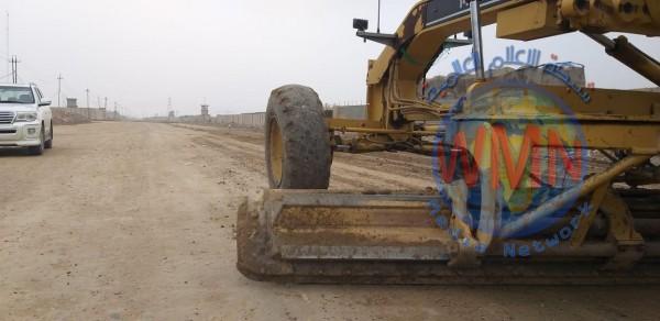 المباشرة باستحداث طريق مهم وحيوي جنوب بغداد