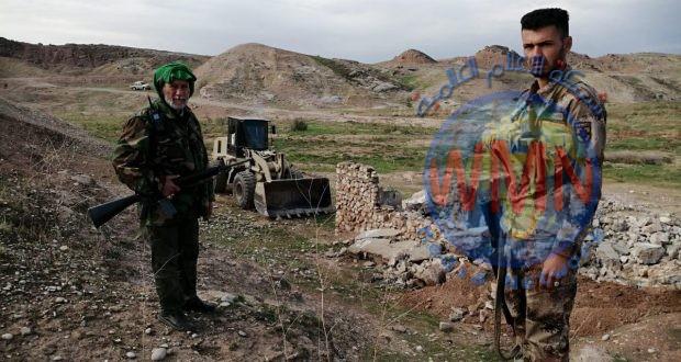 قوة من اللواء 20 في الحشد تدمر مضافات لداعش بعملية دهم وتفتيش في ديالى