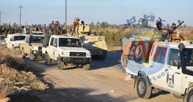 الحشد الشعبي ينفذ عملية أمنية لتفتيش المبازل والبساتين جنوب سامراء