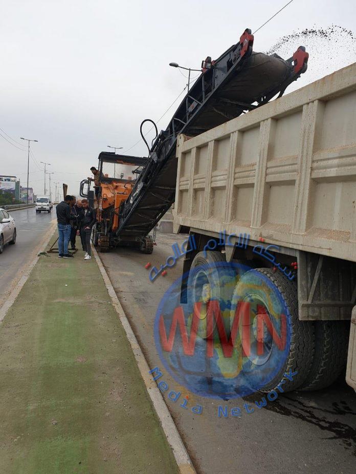 امانة بغداد تعلن استمرار العمل في مجسر ساحة بيروت