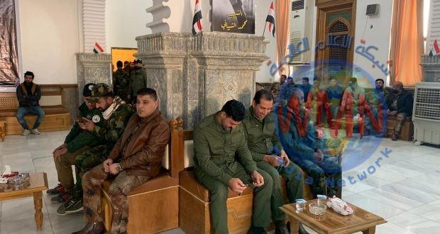 مديرية أمن الحشد الشعبي في صلاح الدين تقيم مجلس عزاء على أرواح الشهداء القادة