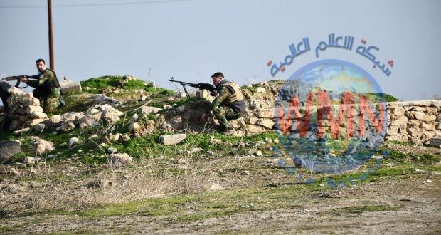 قوة من اللواء 21 تسند قوة من الجيش تعرضت لهجوم من داعش شرق صلاح الدين