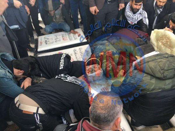 توافد آلاف المعزين على قبر الشهيد القائد ابو مهدي المهندس لمرور 40 يوما على استشهاده