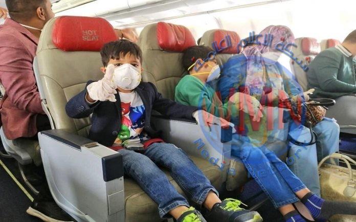 وزارة النقل تعلن اتمام اجلاء 871 مواطن عراقي من القاهرة الى مطار بغداد