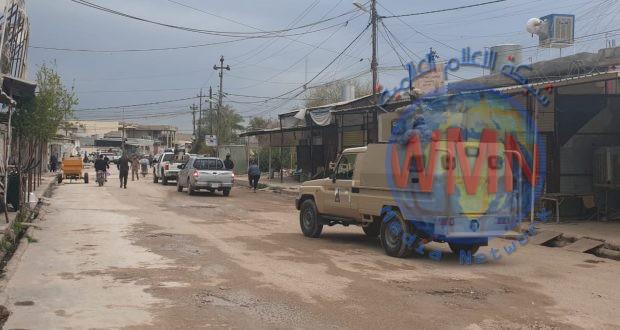 الحشد الشعبي يشارك بتطبيق اجراءات حظر التجوال في كركوك
