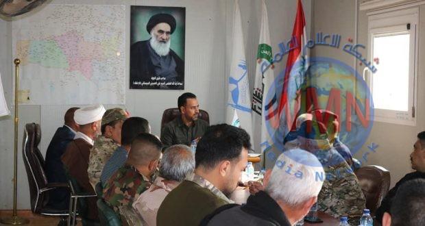 تشكيل العتبة العلوية التابع للحشد يعقد اجتماعا تمهيدا لاستلام واجب القطعات العسكرية غرب كربلاء