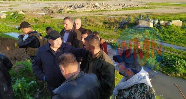 بالصور… قيادة عمليات نينوى للحشد تفتح ممرات لتصريف المياه التي اجتاحت مدينة الموصل  في محليّات