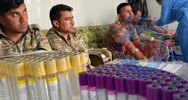 بالصور.. اللواء 15 بالحشد الشعبي ينظم حملة تبرع بالدم لدعم مصابي كورونا