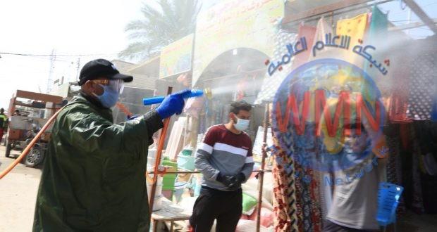 طبابة اللواء الثاني للحشد تواصل تعفير المناطق السكنية ودور العبادة في النجف