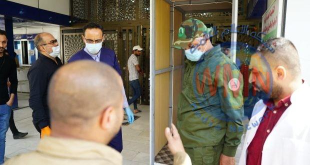 الحشد الشعبي يزود ثلاث مستشفيات رئيسية بأجهزة تعفير الأشخاص