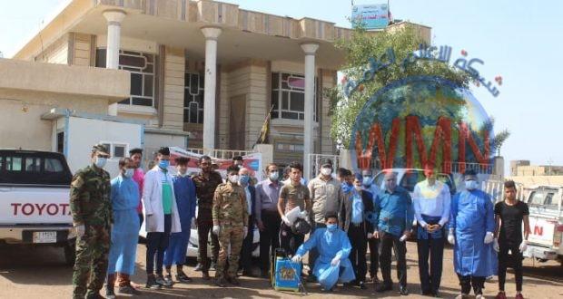 الحشد الشعبي ينفذ حملة تعفير في قلعة صالح (صور)