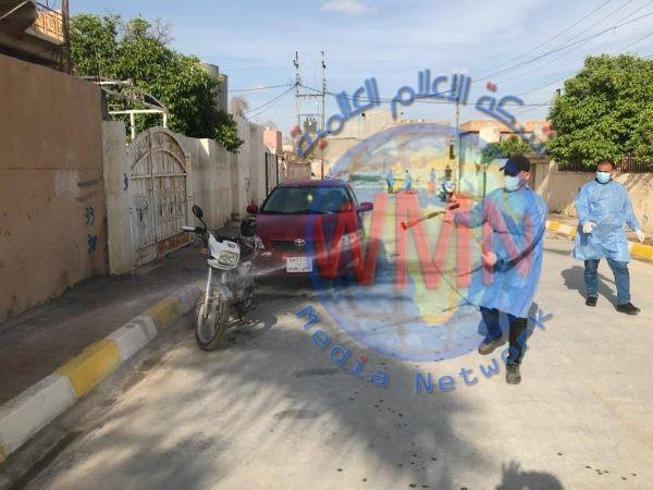 بالصور.. الحشد الشعبي ينفذ حملة تعفير وتوعية واسعة في قضاء طوز خورماتو