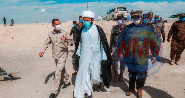 آمر اللواء الثاني للحشد يتفقد قاطع عمليات بادية النجف للوقوف على جهوزية القوات