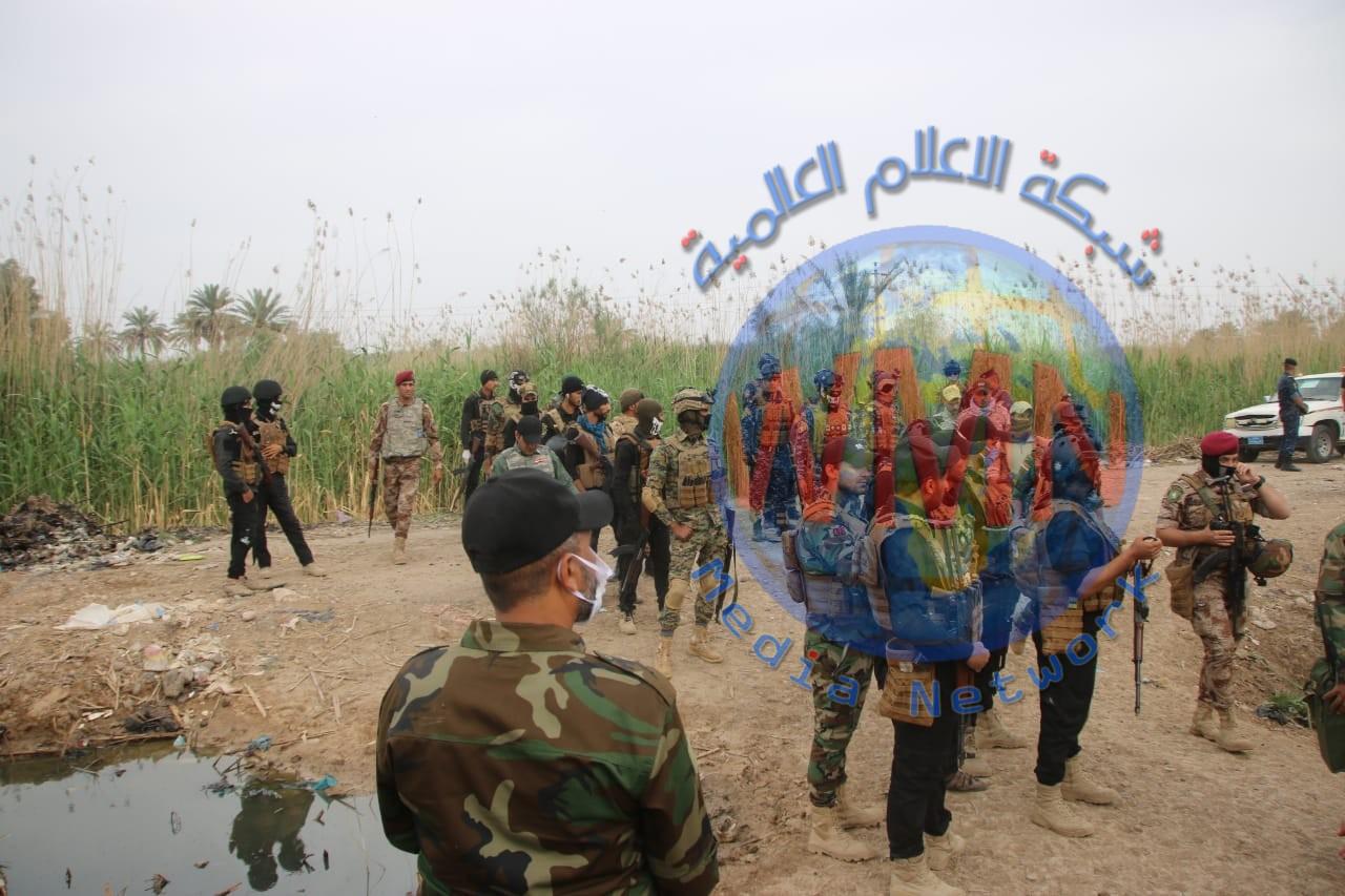 """الحشد الشعبي والقوات الأمنية يلاحقان فلول """"داعش"""" جنوب سامراء (صور)"""