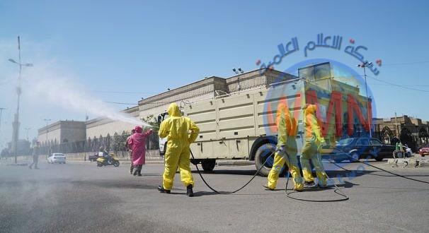 استجابة لنداء الاستغاثة.. الحشد الشعبي ينفذ حملة تعفير في منطقة الكرادة وسط بغداد