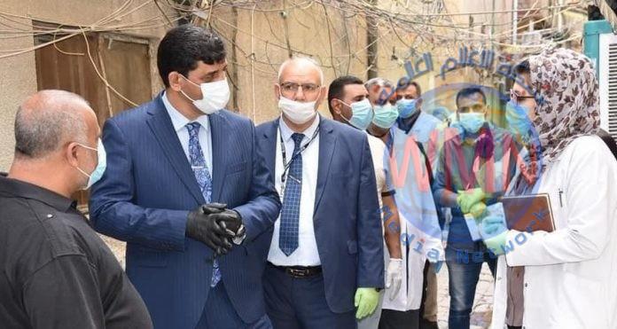 مدير صحة الكرخ يعلن عدد الاصابات بكورونا وتوزيعها