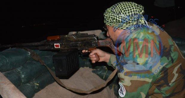 قوة من اللواء الرابع للحشد تحبط محاولة تسلل لداعش في وادي جند في ديالى