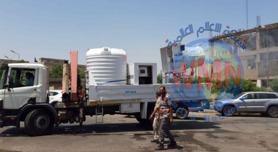انطلاق حملة كبرى لتعفير الشوارع في مدينة الصدر