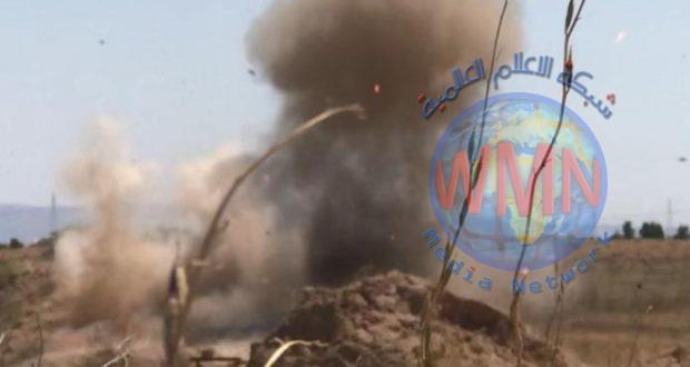 اللواء 35 بالحشد يعثر على عدد من الصواريخ الموجهة لاستهداف حي سكني جنوب تكريت