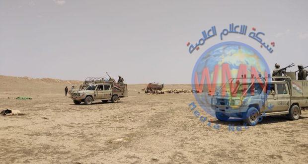 الحشد الشعبي ينفذ عملية تفتيش لملاحقة فلول داعش في الانبار
