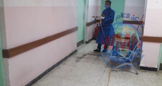 """بالصور.. """"وعي"""" تعفير مستشفى الحسين التعليمي في المثنى"""