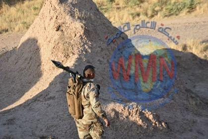 """اللواء 52 بالحشد يعثر على نفق لـ""""داعش"""" وثلاث عبوات ناسفة غرب آمرلي"""