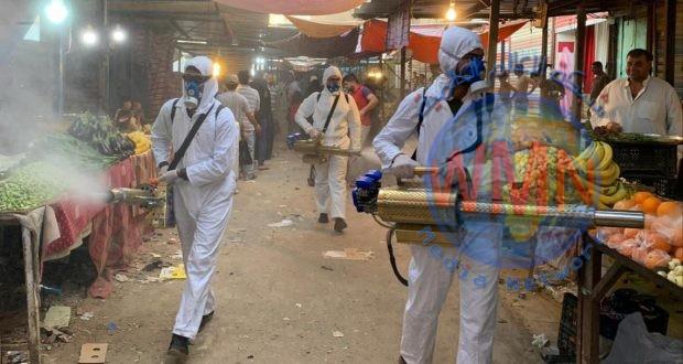 اللواء 26 بالحشد الشعبي ينفذ حملات تعقيم وتعفير جديدة لدرء خطر كورونا