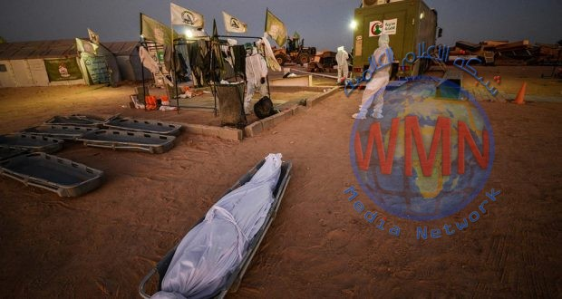 اللواء الثاني وطبابة الحشد يدفنان 67 متوفيا بكورونا خلال الـ24 ساعة الماضية في النجف الاشرف
