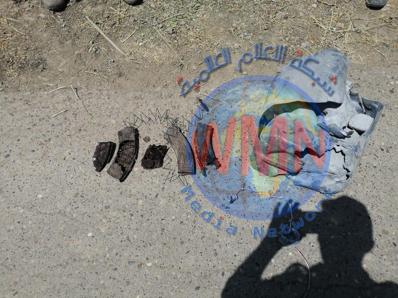 """اللواء 41 بالحشد الشعبي يعالج عبوة على شكل """"جلكان"""" جنوب سامراء"""
