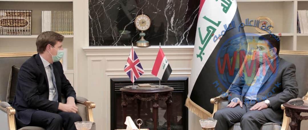 مستشار الأمن الوطني السيد قاسم الاعرجي  يلتقي السفير البريطاني في العراق