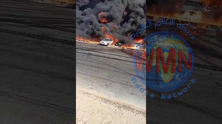 """مصر.. قرار بتعويض المتضررين من الحريق الضخم على طريق """"مصر – الإسماعيلية"""""""