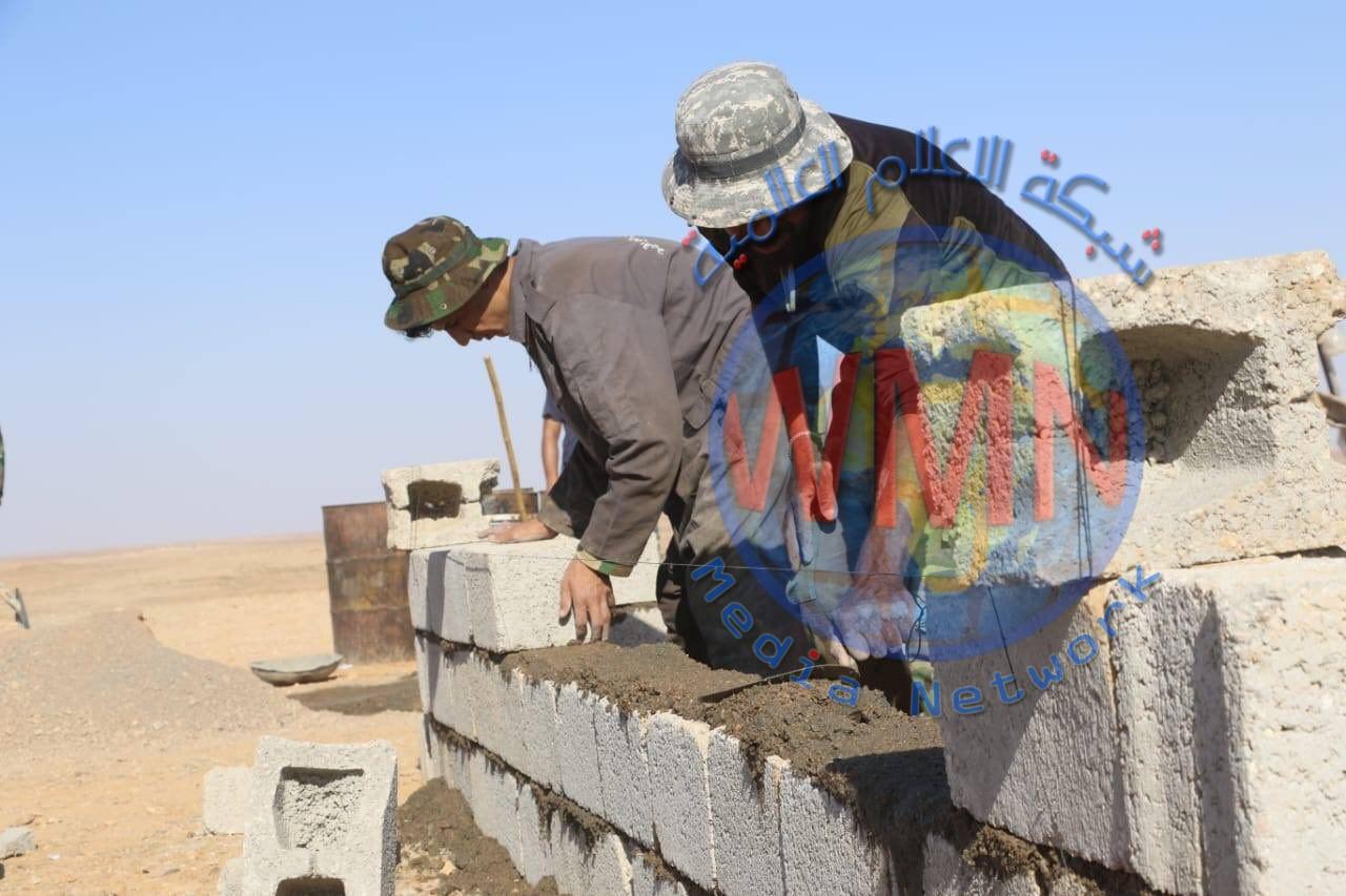 اللواء 19 يبني غرف استراحة لنقاط الافواج المنتشرة في الحدود العراقية السورية