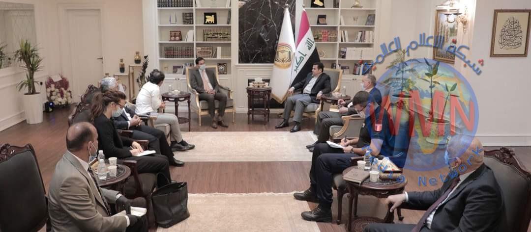 مستشار الأمن الوطني السيد قاسم الأعرجي يستقبل القائم بالأعمال الفرنسي في بغداد