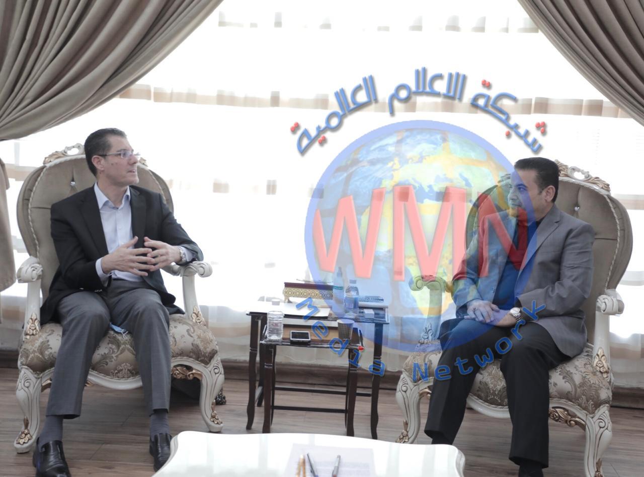 مستشار الأمن القومي السيد قاسم الأعرجي يستقبل وزير التخطيط السابق السيد نوري الدليمي