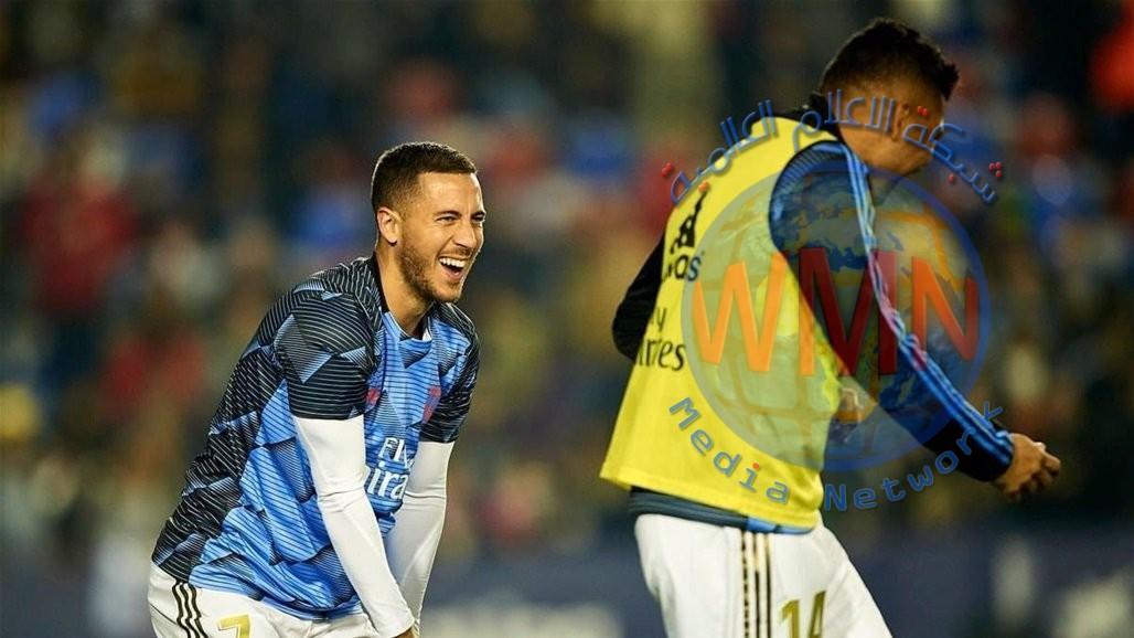 ريال مدريد يعلن اصابة هازارد وكاسيميرو بفيروس كورونا